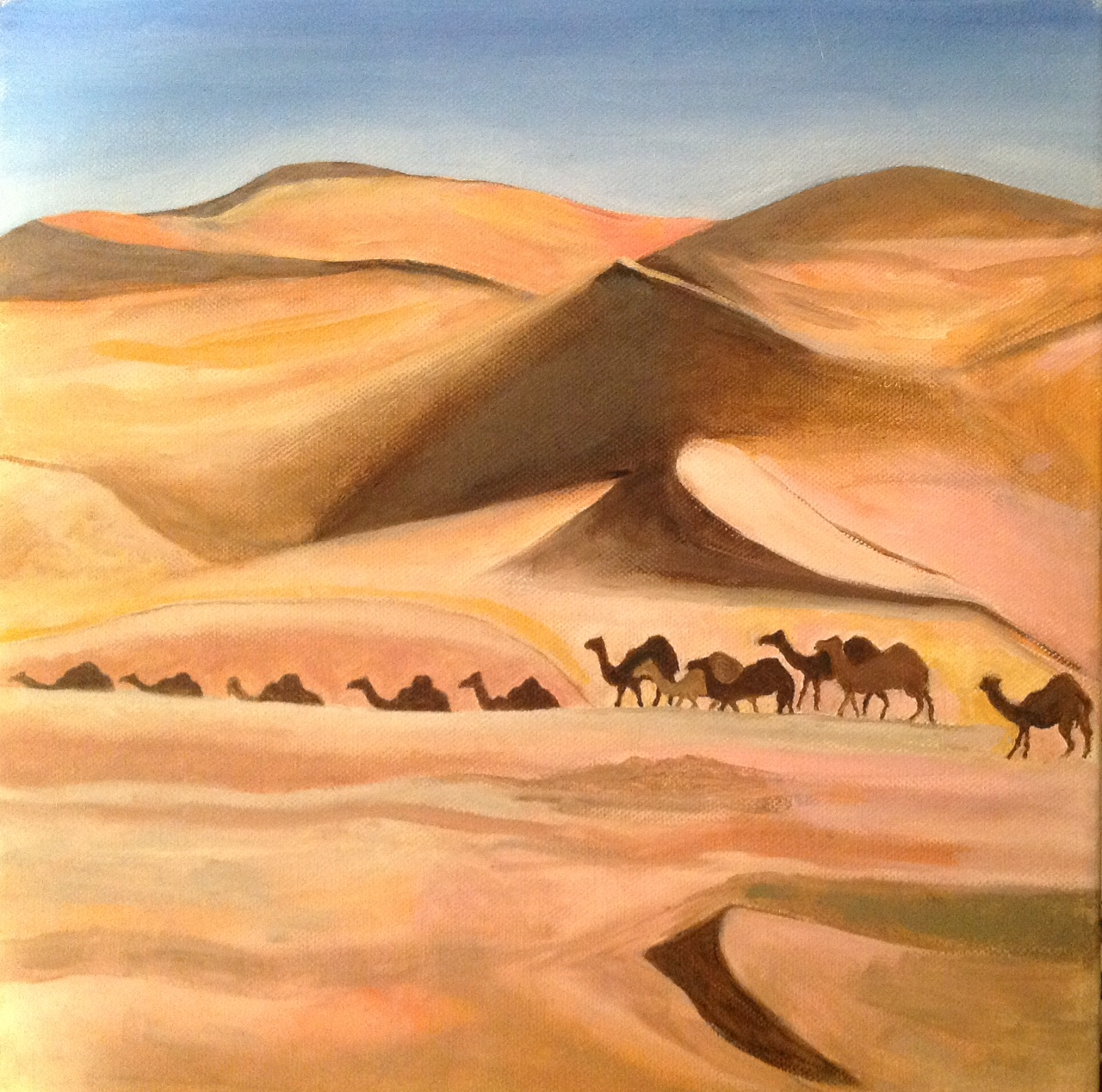 The tinkling of the camels' bells, oil on canvas