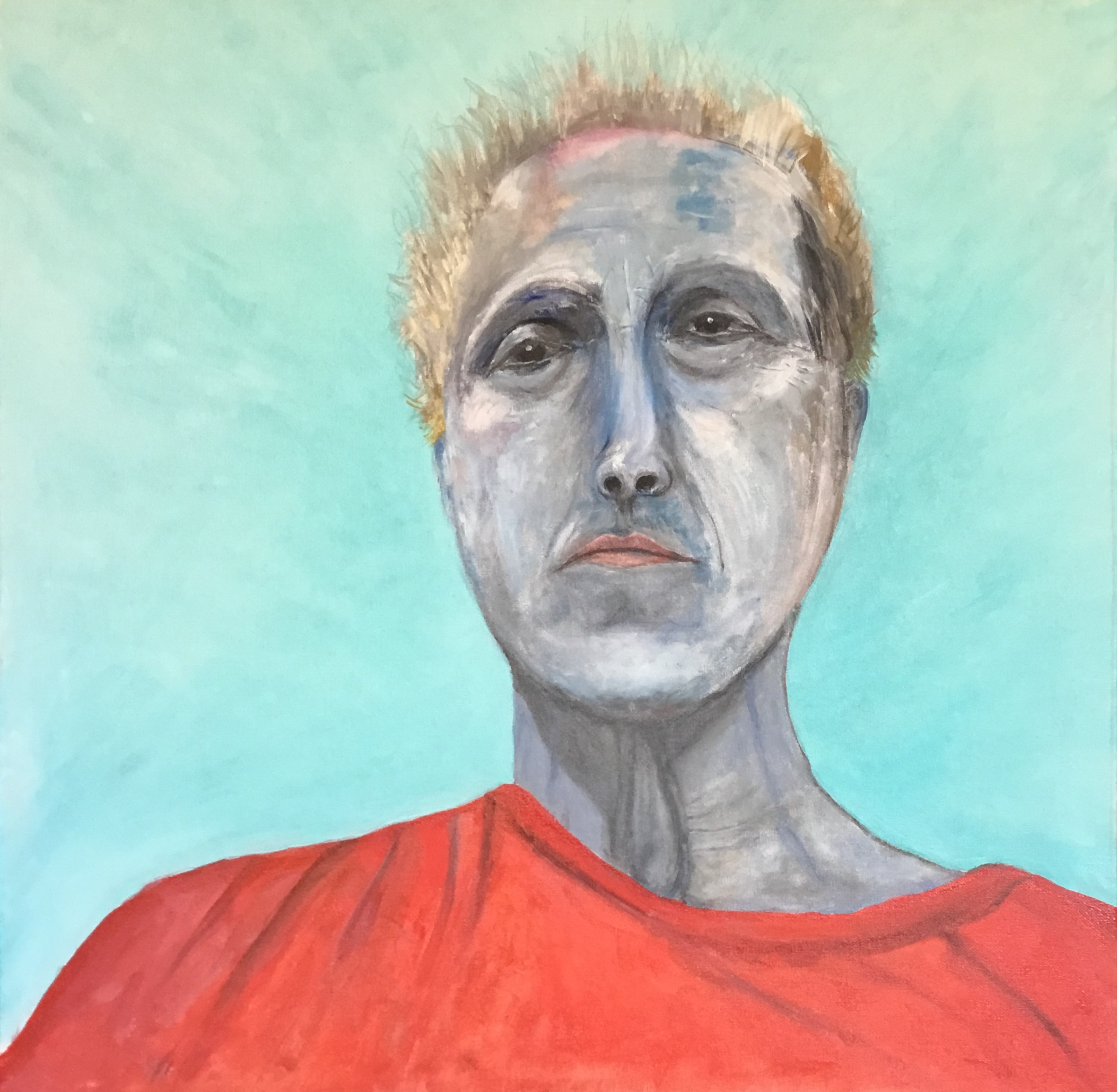 Self-portrait, oil on canvas, 60x60 cm